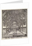 View of the scaffolding in Westminster Hall, London by Anonymous