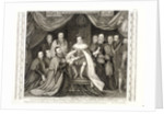 King Edward VI signing a charter, 1552 by George Vertue