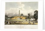 View of the Chinese bridge and pagoda in St James's Park, London by JR Hamble