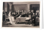 Queen Victoria presiding at the council on her accession to the throne by Charles Fox