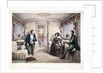 King Louis Philippe, Queen Victoria and Prince Albert in the royal carriage by Jules David