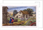 View of a farmyard in Hendon, in the London borough of Barnet by
