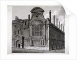 View of the north front of Sion College, London by William Wise