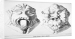 Stone bosses from St Michael's Crypt, Aldgate Street, London, c1830(?) by J Emslie & Sons
