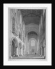 Interior view of the Church of St Bartholomew-the-Great, Smithfield, City of London by John Le Keux