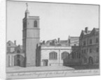 South-west view of the Church of St Bartholomew-the-Less, City of London by