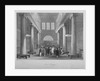 Interior view of the Stock Exchange, Bartholomew Lane, City of London by Harlen Melville
