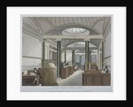Interior view of the coffee room at the Auction Mart, Bartholomew Lane, City of London by