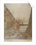 Belle Sauvage Yard, looking towards Ludgate Hill, City of London by