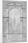 St Bride's Church, Fleet Street, City of London by W Wallis