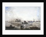 View of the temporary bridge at Blackfriars, London by