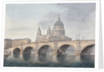 View of Blackfriars Bridge and St Paul's Cathedral, London by Anonymous