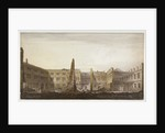 Blackwell Hall during demolition, City of London by Robert Blemmell Schnebbelie