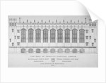 Elevation of the hall of Christ's Hospital, City of London by Anonymous