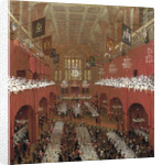 Banquet at the Guildhall, City of London by William Daniell