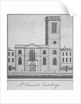 West view of the Church of St Clement, Eastcheap, City of London by