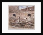 Portion of London Wall showing the internal face on Cooper's Row, City of London by J Maund