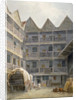 View of the yard at the Bull and Mouth Inn, St Martin's le Grand, City of London by George Shepherd