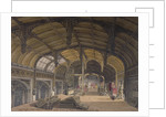 Interior view of Crosby Hall at no 36 Bishopsgate, City of London by Robert Blemmell Schnebbelie