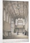 Interior view of the Banqueting Hall in Crosby Hall at no 36 Bishopsgate, City of London by