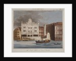 The Duke's Theatre, Dorset Gardens, from the River Thames, City of London by
