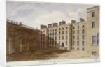 Inner courtyard of Fleet Prison, City of London by
