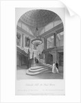 Interior view of the Goldsmiths' Hall showing the grand staircase, City of London by Harden Sidney Melville