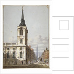 Church of St Benet Gracechurch and Gracechurch Street, City of London by George Shepherd