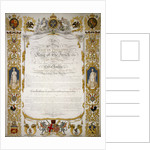 Illuminated address from the Corporation of London to Louis Philippe of France by H Dowse