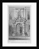 The old door of Haberdashers' Hall, City of London by W Watkins