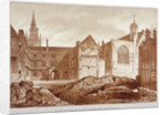 West view of the Guildhall Chapel and Blackwell Hall, City of London by Anonymous