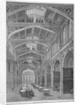 Interior view of Guildhall Library, City of London by Anonymous