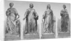 Statues on Holborn Viaduct, City of London by