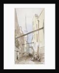 Huggin Lane, City of London by Thomas Colman Dibdin