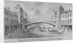 View of the proposed Holborn Viaduct across Farringdon Street, City of London by Anonymous