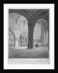 Interior south-west view of the Church of St Helen, Bishopsgate, City of London by Bartholomew Howlett