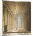 Interior view of the Egyptian Hall, Mansion House, City of London by