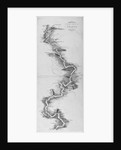 Panoramic map of the River Thames by Anonymous