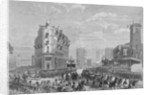 Queen Victoria in Holborn Circus on her way to the opening of Holborn Viaduct, London by Anonymous