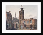 North view of the Church of St James, Duke's Place and adjacent buildings, City of London by John Coney