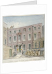 View of the courtyard at no 38 St Mary at Hill, City of London by Charles James Richardson