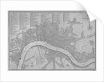 Map of the City of London, the River Thames, the City of Westminster and surrounding areas by C Inselin