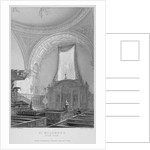 Interior of the Church of St Mildred, Bread Street, City of London by John Le Keux