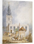 View of the Church of St Michael, Crooked Lane, City of London by