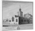 North-east prospect of the Church of St Olave, Hart Street, City of London by William Henry Toms