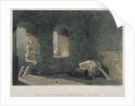 Interior view of a tower belonging to London Wall at Old Bailey, City of London by John Wykeham Archer