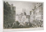 Church of St Martin Outwich, viewed from Bishopsgate, City of London by