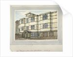 House of George Monck, Duke of Albermarle in Grub Street, now Milton Street, City of London by Samuel Ireland