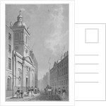 View of the Church of St Peter-le-Poer and Old Broad Street, City of London by