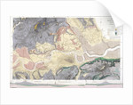Geological map of London and the surrounding area by T Walsh